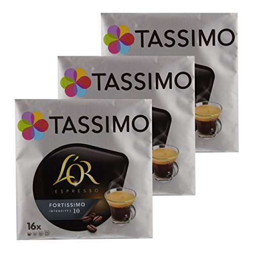Tassimo Fortissimo L 'Or Espresso, Coffee, Cafe Stack?-?Gema Recommended Roast Coffee, 48?T-DISC HOLDER