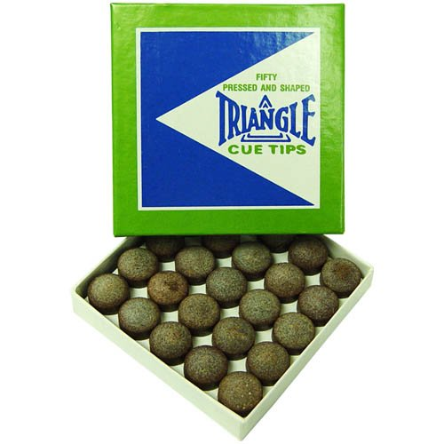 TRIANGLE CUE Tips 13mm - Box of 50