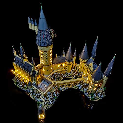 Likecom Juego de iluminación LED para castillo de Hogwarts de Harry Potter, compatible con Lego 71043, sin set Lego
