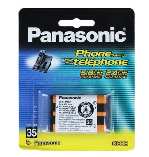Lootmela Rechargeable HHR-P107 3.6V 650mAh Ni-MH Battery for Panasonic Cordless Phone