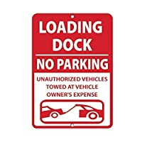 金属の警告標識、積み下ろしドック、駐車場無許可車両牽引、塗装ティンサインヴィンテージの壁の装飾、カフェバー、パブ、ホーム、ビール、装飾、工芸品、レトロなヴィンテージサイン