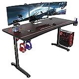 EUREKA ERGONOMIC Gaming Tisch Groß P60 Gaming Schreibtisch 152 * 70cm Gamer Tisch mit...