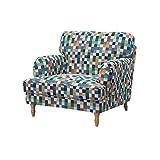 Soferia - IKEA STOCKSUND Funda para sillón, Mozaik White