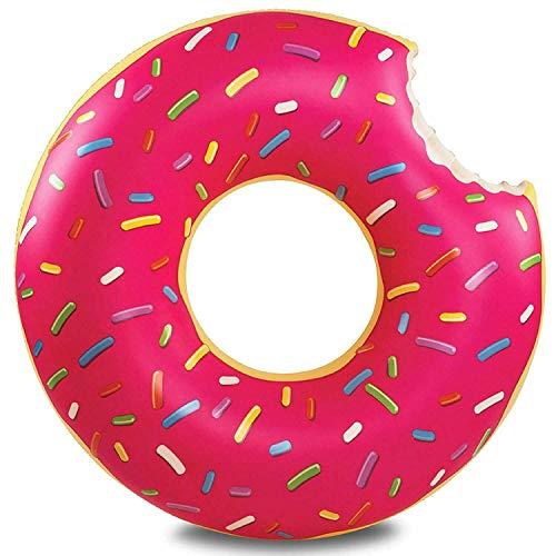 WLQWER Flotadores de Piscina para Adultos Flotador Inflable Piscina Donut Anillos de natación Fiesta Fresa Flotadores para niños,Rosado,60cm