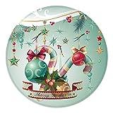 Kfdzsw Teppich Weihnachten Teppiche for Wohnzimmer Küchentür Badezimmer Boden Teppichboden-Matten-Druck 60 cm Frohe Weihnachten Runde Teppiche (Color : B, Size : Diameter 60cm)