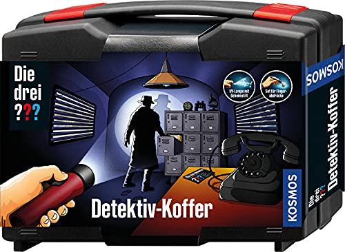 KOSMOS 630553 Die drei ??? Detektivkoffer, Detektiv Spielzeug Set für Kinder ab 8 Jahre mit allen wichtigen Utensilien und Profitipps zur Ermittlung