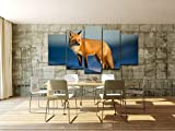 XITANG 5 Panel Canvas Oil Painting Wall Art HD Printed Pictures Poster Animal Snow Fox Photo For Living Room Decor Modern