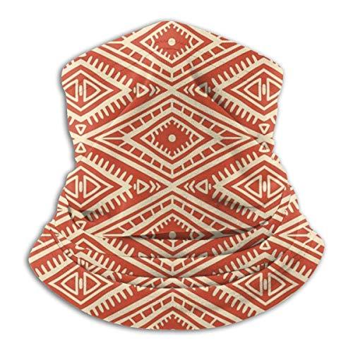 ASDAH schattige tribal oranje en geel patroon zonder scheuren met ruiten warme hals winter sjaal