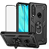 Best Share for Huawei P30 Lite Case & Tempered Glass Screen Protector, Rugged Hybrid Armor...