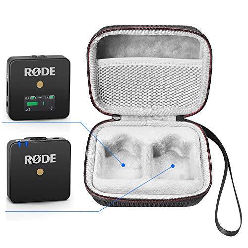 LuckyNV Portátil Estuche para Rode Wireless Go - Sistema de micrófono inalámbrico Compacto, Receptor transmisor