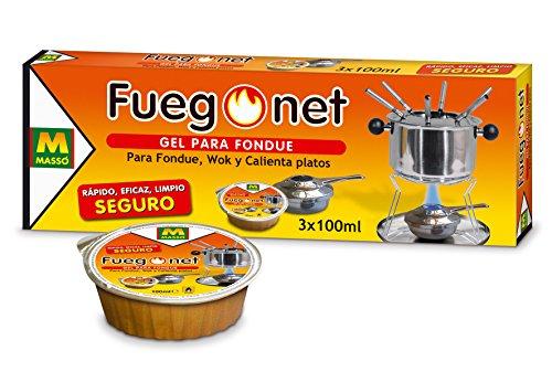 FUEGO NET Fuegonet 231112 Gel para Fondues, Transparente,