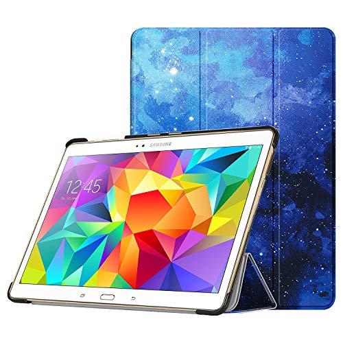 Fintie Hülle für Samsung Galaxy Tab S 10.5 T800 T805 (10,5 Zoll) Tablet-PC - Ultra Schlank superleicht Ständer SlimShell Schutzhülle Etui Tasche mit Auto Schlaf/Wach Funktion, Sternenhimmel