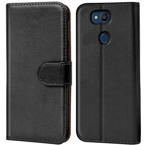 Verco LG X Power 3 Hülle, Handyhülle für LG X Power 3 Tasche PU Leder Flip Hülle Brieftasche - Schwarz