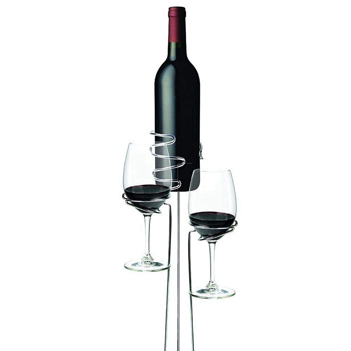 Wine Racks - 3pcs Set Outdoor Wine Glass Bottle Holder Stake Picnic Camping Stakes Rack Home Bar Cup Shelf - Under Decorative Cabinet Vertical Bamboo Hanging Silver Charts Hang Countertop Inside