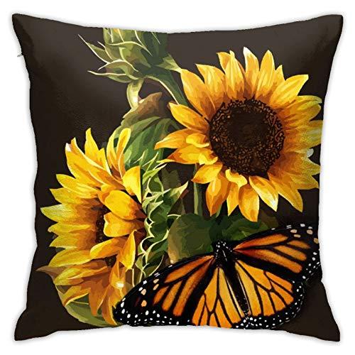 AJOR Funda de cojín cuadrada decorativa de 45 x 45 cm, diseño de mariposa, para cojines de sofá
