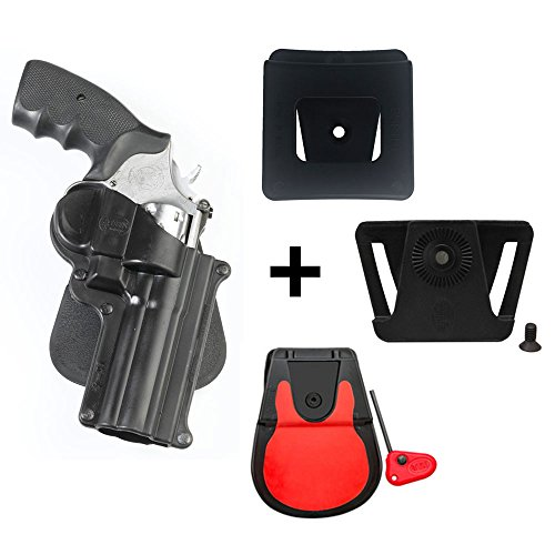 Fobus kit 360 Rotating roto Paddle Retention Holster + Belt Attachment + 6cm Police Wide Duty Belt Adapter for S&W L&K Frame 4