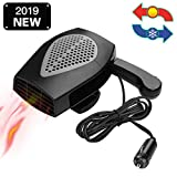 12V Portable Car Heater & Fan Cooller Defrost Defogger Space Automobile 3-Outlet Plug Adjustable...