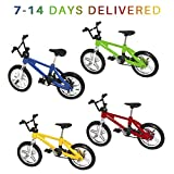 Mini Bike Finger Bike Finger Skateboard Set,Excellent Functional Miniature Toys Mini Extreme Sports Finger Bicycle Skateboard Cool Boy Toy Creative Game Toy Set Collections Cake Decoration (4PCS)