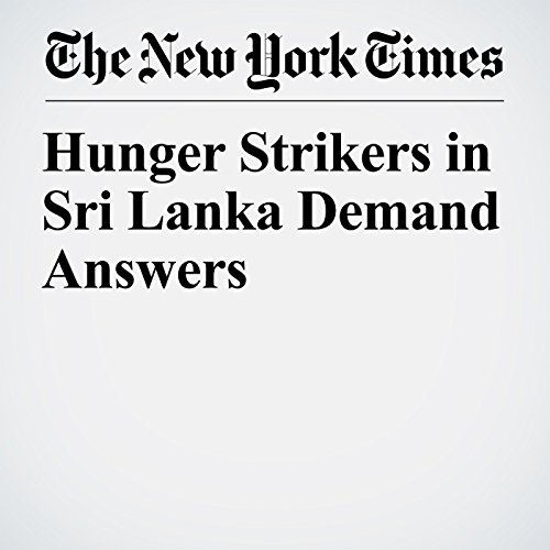 Hunger Strikers in Sri Lanka Demand Answers copertina