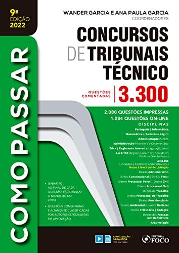 Concurso de Tribunais Técnico - Nível Médio: 3.300 questões comentadas (Como passar)