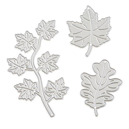 RainBabe Handmade Craft Maple Leaf DIY Scrapbook Album Embossing Card Cutting Dies Template Stencil