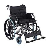 XUELIAIKEE Wheelchair Folding Transport Chair,Heavy Duty Bariatric Wheelchair Medical Manual Wheelchair With...