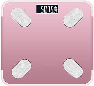 Básculas, báscula Digital.Báscula de baño con identificación automática del Usuario inalámbrico del analizador del Estado del Cuerpo (Color: Rojo) Portátil