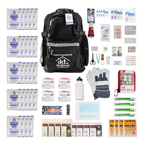 First My Family All-in-One 4-Person Premium Disaster Preparedness Survival...