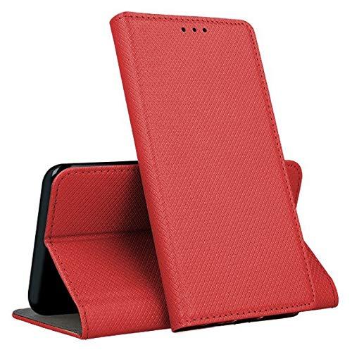 Geschikt voor LG K30 (2019) / X2 (2019) beschermhoes cover STAND boek gel siliconen TPU bescherming kunstleer portefeuille rood