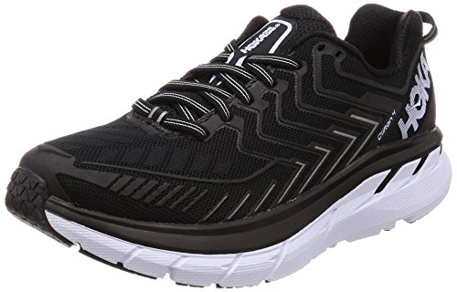 HOKA ONE ONE Women's Clifton 4 Running Shoe Black/White Size 9 M US