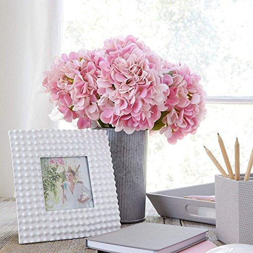 Frmarche Künstliche Blumen Künstlicher Hortensie Seide Blumen in Vasen für Hochzeit Dekor Home Garten Party 2PCS (Rosa)