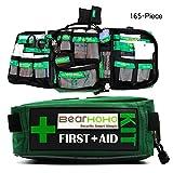 HYRL Erste-Hilfe-Ausrüstung Erdbeben-Überlebensausrüstung Für Notfälle, 165-Teilige Erste-Hilfe-Ausrüstung, Die Sich Hervorragend Für Schule, Büro, Fahrzeug, Camping Und Sport Eignet,Withcontent