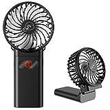 TDONE 携帯扇風機 ハンディ扇風機 4000mAh大容量 4段階風量調整 ネックストラップ付 LCDバッテリー残量表示 超静音 usb充電式 ミニ 軽量 強力 熱中症対策 暑さ対策 オフィス スポーツ観戦 アウトドア