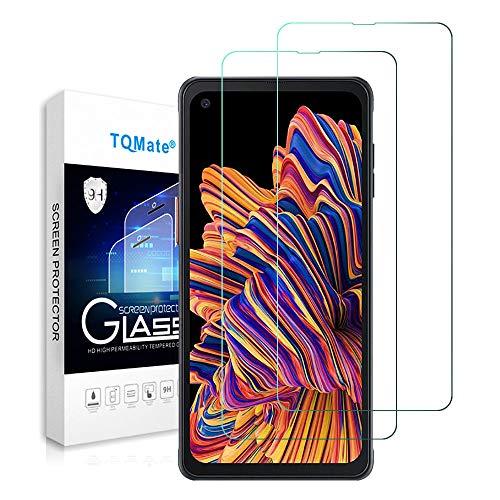 TQmate 2Pack, Vetro Temperato Compatibile con Galaxy Xcover PRO, Pellicola Protettiva per Samsung Galaxy Xcover PRO, Durezza 9H, Resistente ai Graffi, Anti-Oil
