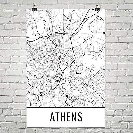 Athens Map Print Athens Greece Map Athens Gifts Athens Print Tote Bag Canvas Bag Cotton Bag Beach Tote Shopping Bag Grocery Bag Market