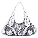 Angelkiss Purses Handbags for Women Waterproof PU Leather Large Hobo Shoulder Bags Top-handle