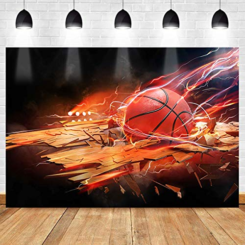 Basketball Flame Backdrop for Party Decorations MEETSIOY Intense Basketball Breaks Through The Violent Basketball Aesthetics Background Basketball Fans Party Supplies Banner 7x5ft LSMT1243