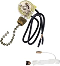 Ceiling Fan Pull Chain Switch for Fan Light,Zing Ear ZE-109 ON-OFF Pull Chain Lamp Switch with Cord for Ceiling Fan Lights,Lamps,Canopy Lights Bronze