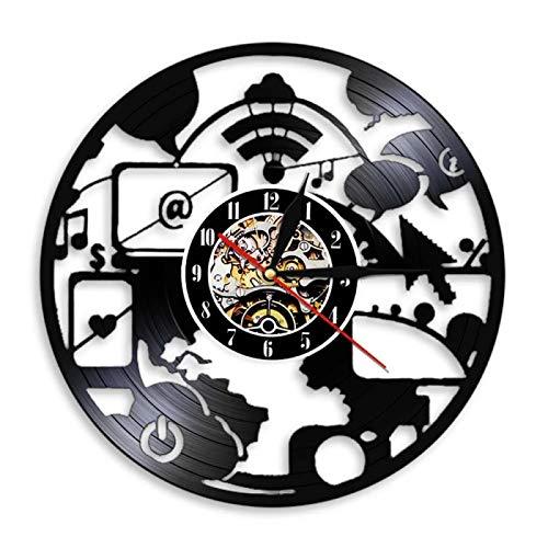 SHILLPS Friki Moderno Led Reloj De Pared...