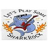 Airmark Rompecabezas de 1000 Piezas,Rompecabezas de imágenes,Cool Shark con Guitarra eléctrica y Llamas de Fuego,Juguetes Puzzle for Adultos niños Interesante Juego Juguete Decoración para El Hogar