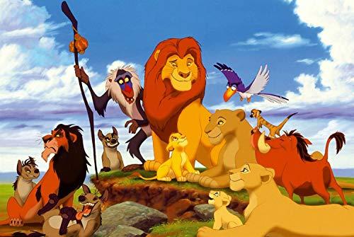No logo CJYVVC Puzzle de 1000 Piezas Paesaggistici Rey león Simba Rompecabezas for Adultos Giocattolo Educativo for niños Adultos Desafíos de Juguete 75,5 50.5cm *