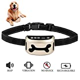 beep and vibration, no shock, anti-bark training collar for dogs