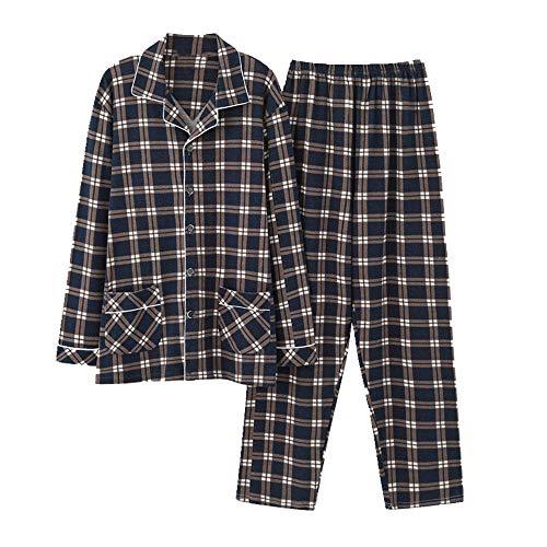 N\\P Pyjama Herren Langarm Freizeit Plaid Home Wear Männer