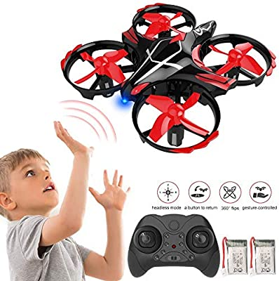 GEYUEYA Home Mini Drone RC Nano Quadcopter Best Drone for Kids and Beginners RC Helicopter Plane with Auto Hovering, 3D Flip, Headless Mode and Extra Batteries Toys for Boys and Girls