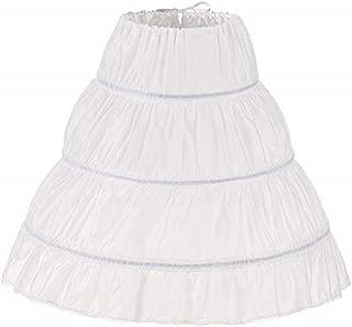 MEITEMEI Girls' 3 Hoops Petticoat Full Slip Flower Girl Crinoline Skirt