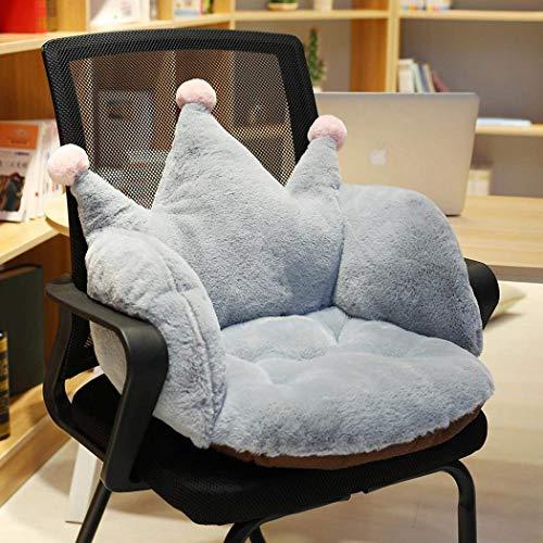 Warm Sitzauflage Sitzpolster Krone Komfort Sitz und Rückenkissen Kissenauflage Schmerzlinderung für Hause Büro und Auto, 55 x 40 x 40 cmGray