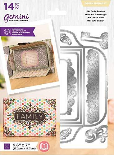 Crafter's Companion Gemini Metalen Die-Dimensionals-Mini-kaart & Envelop, Eén kleur, Grootte