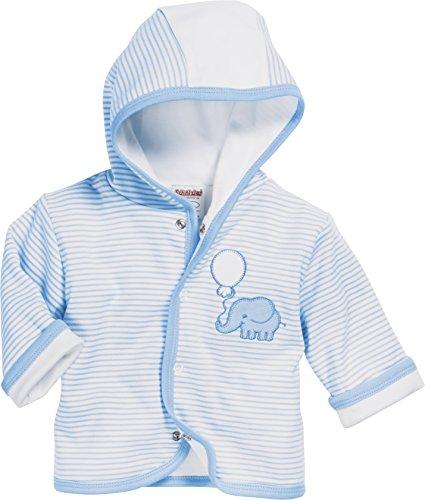 Schnizler Baby-Unisex Jäckchen Interlock Elefant Jacke, Blau (Bleu 17), 68