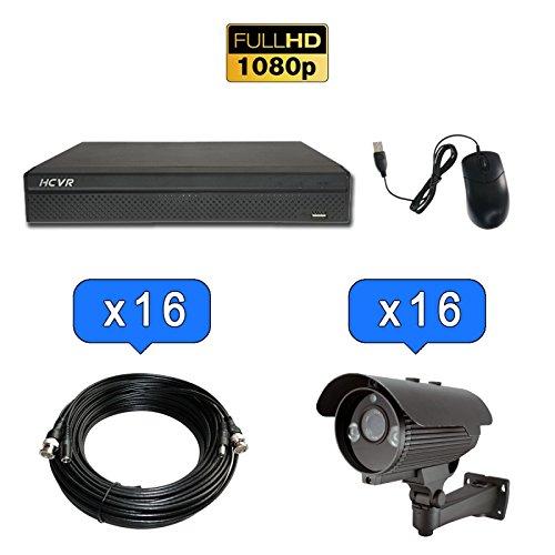 Kit di Videosorveglianza Registratore + 16Telecamere compatte 1080P IR 60m–Dahua