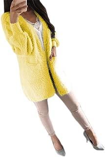 Women's Boho Open Front Knitted Cardigan Sweater Lightweight Long Sleeve Coats